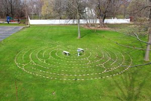 Aerial photograph of the Trinity Labyrinth